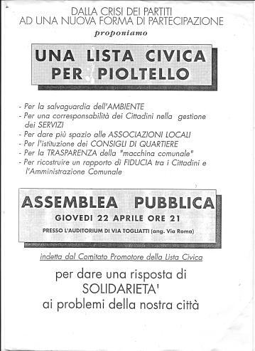 Primo ManifestoListaCivicaApr2003